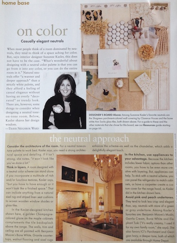 Suzanne Kasler, interior designer, talks with Travis Neighbor Ward about neutral colors in home design