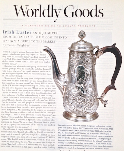 Silver Antique Irish by Travis Neighbor Ward